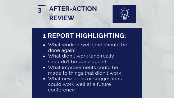 Graphic that lists key findings from the after-action review report