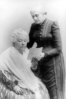 Susan B. Anthony with Elizabeth Cady Stanton, ca. 1880-1902. Source: Library of Congress, Prints & Photographs Division