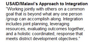 USAID/Malawi's Approach to Integration