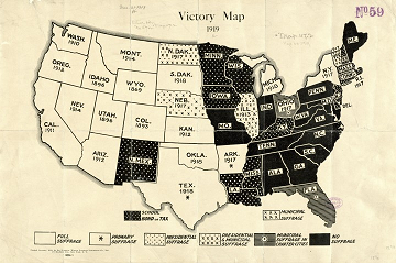 Victory Map.  See  See https://brilliantmaps.com/1919-womens-suffrage-victory/.