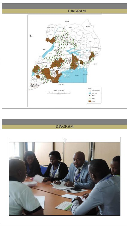 Storyboard frames from the Feed the Future Uganda Commodity Production and Marketing activity