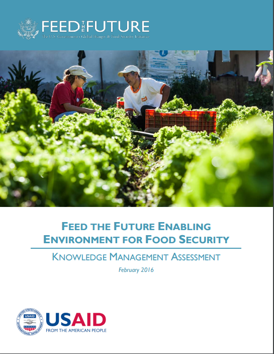 Image of Feed the Future Enabling Environment for Food Security | Knowledge Management Assessment report