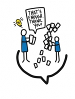 illustration of people with lightbulb