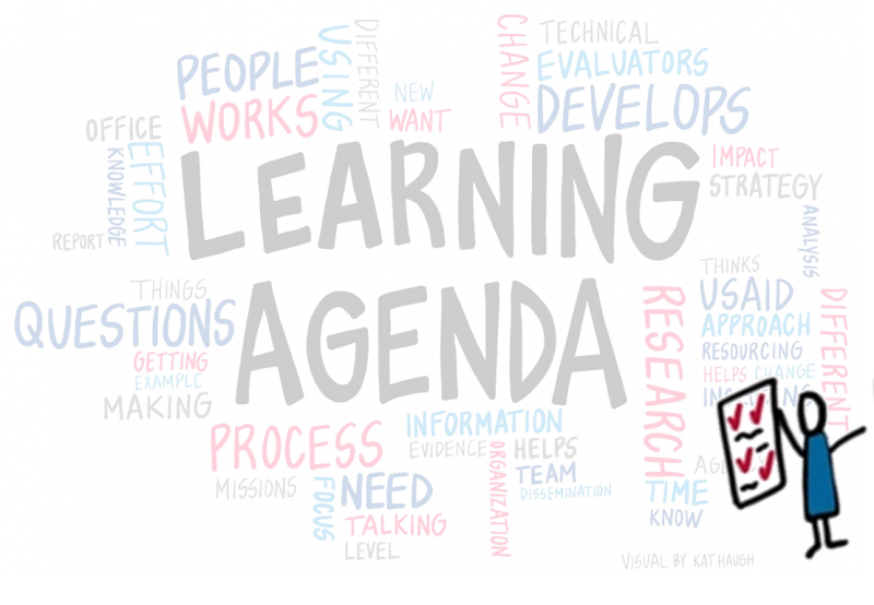Learning Agendas Word Cloud