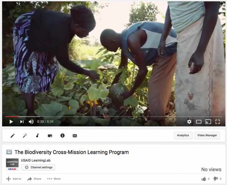 The Biodiversity Cross-Mission Learning Program